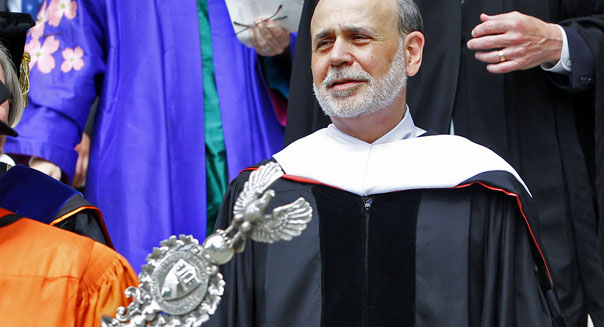 federal reserve chairman ben bernanke princeton commencement speech