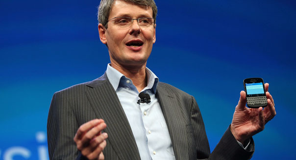 research in motion blackberry smartphone earnings Thorsten Heins
