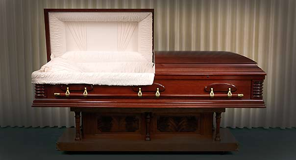 open coffin