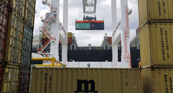 gdp revised downward q1 first quarter container port