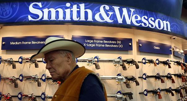 smith wesson earnings gun debate self defense sandy hook
