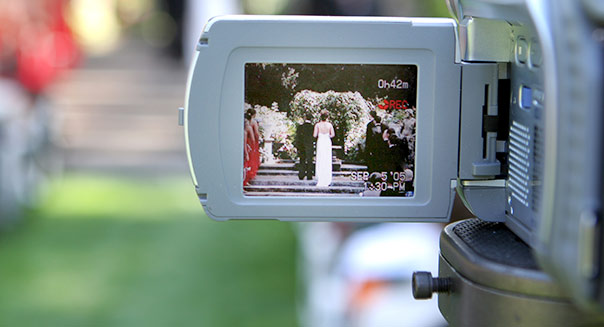 video camera wedding