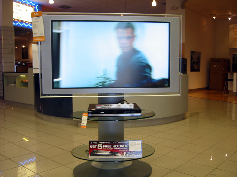 Toshiba HD DVD display