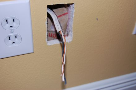 how to run power to a wall mounted tv rh engadget com tv in wall wiring kit tv wiring wall boxes