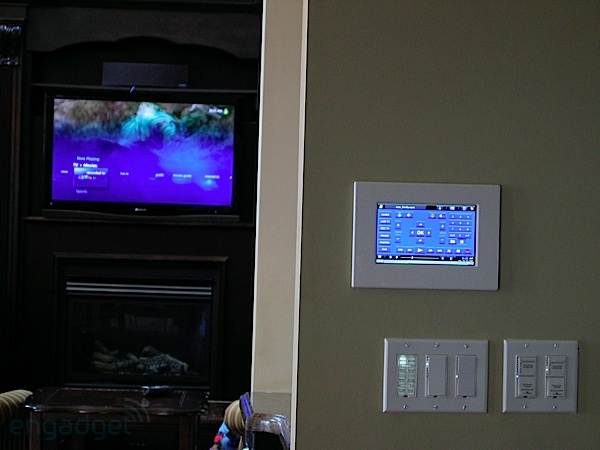 mPanel mounted near some Insteon Switches