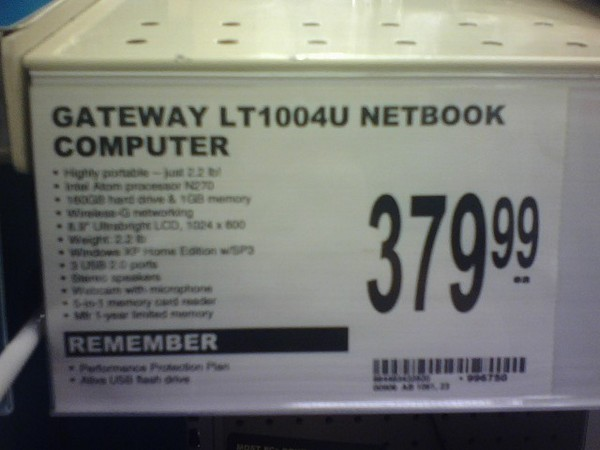Gateway's netbook lands domestically at Office Depot of all places