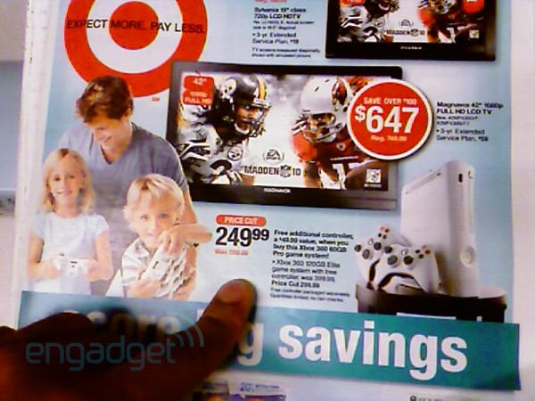 Xbox 360 Pro and Elite price cuts confirmed in Target ad for