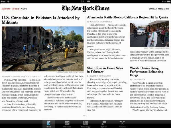 8b29d5d3ce3 New York Times Editor s Choice (free) - The NYT s early entry into the iPad  game hasn t gotten as much hype as the WSJ