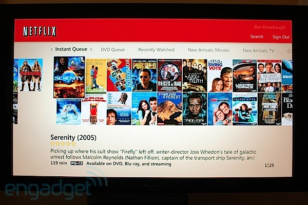Media Center Netflix interface