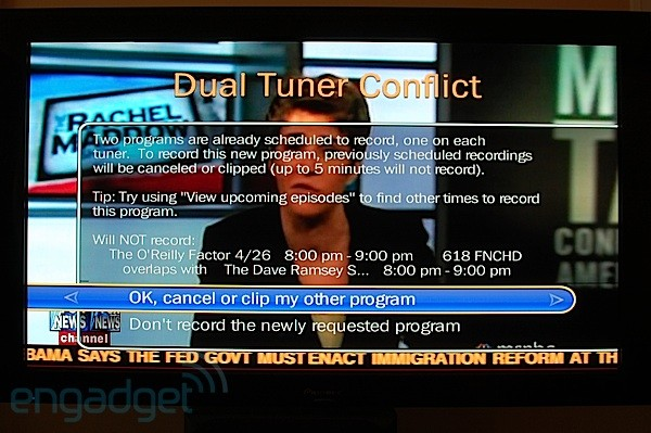 TiVo tuner conflict