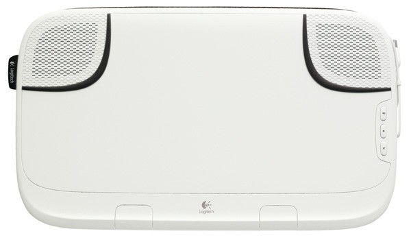 2b00c98867e ... your Macbook®, laptop or netbook USB port to power the speakers.  Pricing and Availability The Logitech Speaker Lapdesk N550 is expected to  be available ...