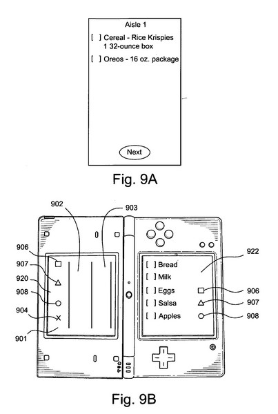 Nintendo patent application describes a shopping list app, could finally domesticate the DS