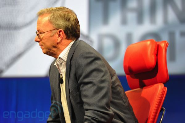 Live from D9: Google's Eric Schmidt takes the stage