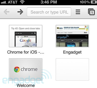 Chrome for iOS handson