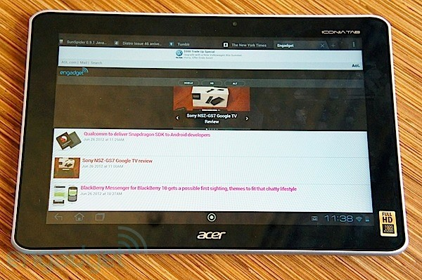 DNP  Acer Iconia Tab A700 review a 10inch ICS tablet with Tegra 3 and a 1920 x 1200 display