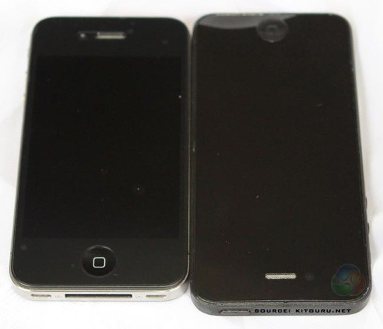 iPhone 2012 body next to iPhone 4S