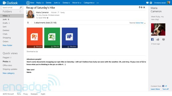 DNP Outlookcom preview details, screenshots and impressions of Microsoft's new email service
