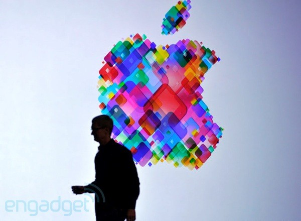 Tim Cook silhouette at WWDC 2012