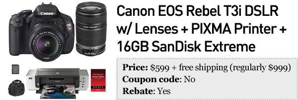 Slickdeals' best in tech for October 24th Canon DSLR bundles, refurbished 3rdgen iPad and more
