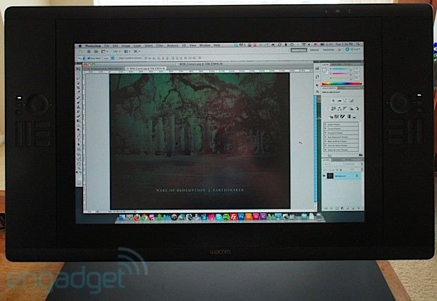 DNP Wacom Cintiq 24HD touch review the penenabled display tacks on multitouch gestures