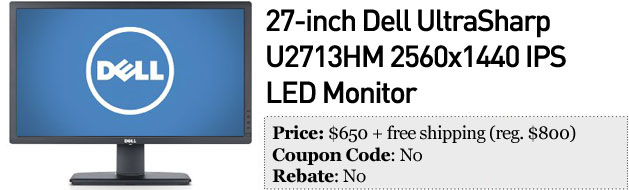 Slickdeals' best in tech for November 14th Canon 5D Mark II, 27inch Dell display and 1TB portable hard drive