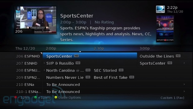 directv genie whole home dvr review rh engadget com direct tv program guide schedule march DirecTV Now TV Guide