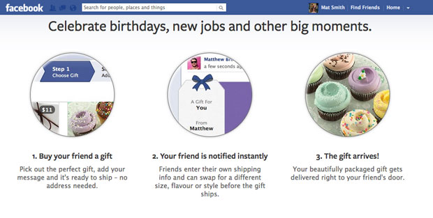 Facebook opens Gifts service to all US users, now includes a bottle of red (or white)
