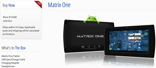 Buyer beware the case of the missing Matrix One tablet