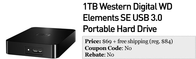 Slickdeals' best in tech for January 2nd Western Digital portable hard drive and digital cameras