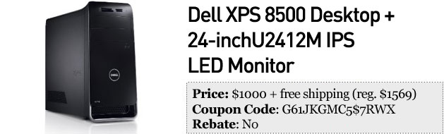 Slickdeals' best in tech for January 31st 42inch LG 3D HDTV, Dell XPS 8500 and Klipsch S4 inears