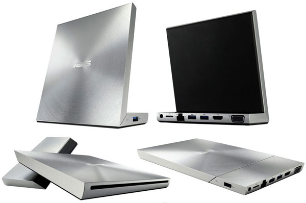 ASUS announces VariDrive media dock with DisplayLink SuperSpeed technology, USB 30, DVD drive