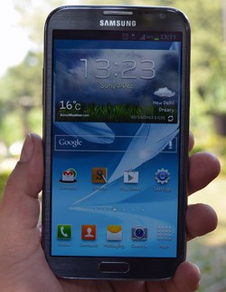 IRL Securifi Almond, Samsung Galaxy Note II and the LG Optimus G