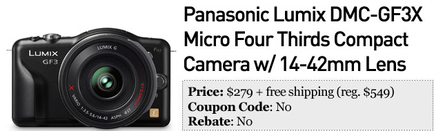 Slickdeals' best in tech for February 4th 55inch Panasonic Viera 3D HDTV and Lumix DMCGF3X