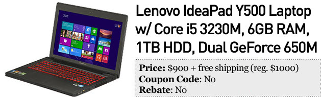 Slickdeals' best in tech for February 11th Pointandshoots, Lenovo IdeaPad Y500 and more