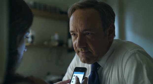 Is that Kevin Spacey behind all those Apple products?