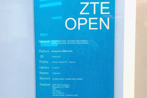 Likely ZTE Open spotted at Mozilla press conference it's blue, it's open, like the ocean