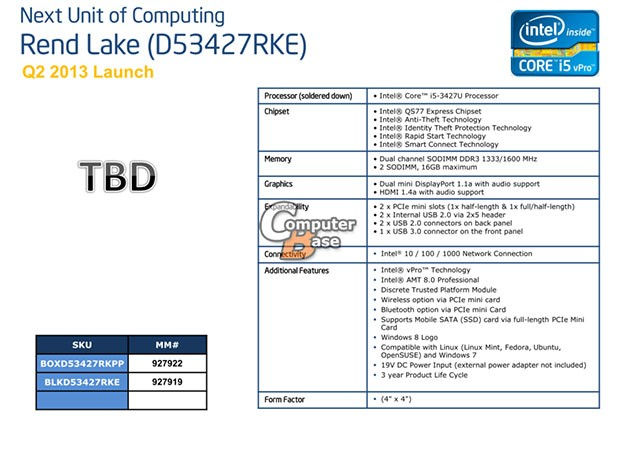 Intel looking to turbocharge its NUC with Core i5 and i7 CPUs, according to leak
