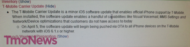 iPhone 5 carrier update may bring TMobile LTE to unlocked GSM models