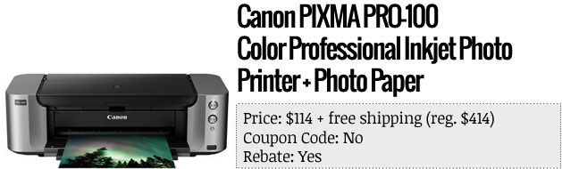Slickdeals' best in tech for April 10th Canon photo printers and 65inch Samsung HDTV