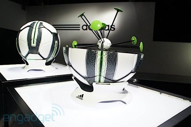 Adidas labs shows off 99 gram adizero soccer boot and smart ball to help raise your game