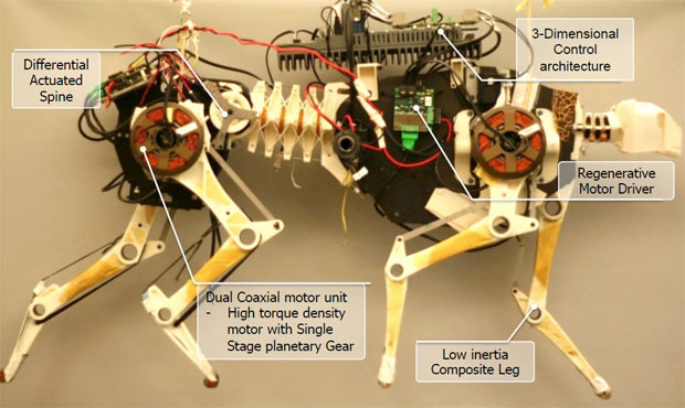 MIT's cheetah robot runs faster, more efficiently, can carry its own power supply video
