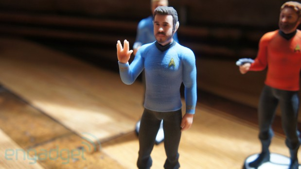 3D Systems will turn you into a Star Trek figure for $70, we go faces on video