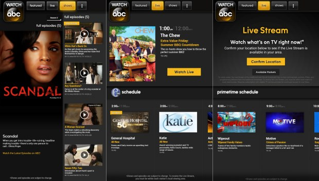 Watch ABC app with live TV streaming comes to Kindle Fire, skips Google Play