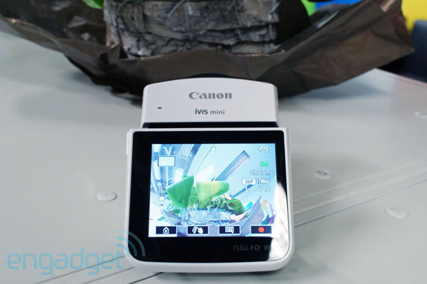 Canon's Legria mini wants to be best friends with your social media, is ready to record fullmotion selfies handson