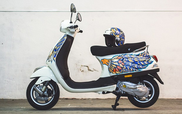 Harrods Olympus PEN Art Edition throws in a custom Vespa, because why not