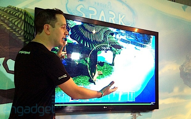 Project Spark lets you build the game, add character with Kinect eyes on