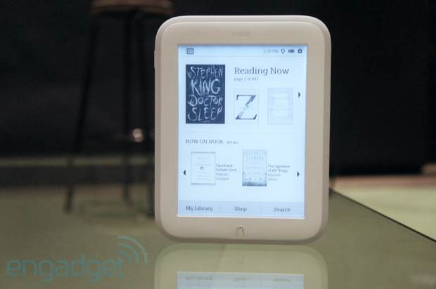 DNP Barnes & Noble's Nook GlowLight is lighter, brighter, whiter, with less Simple Touch for $119