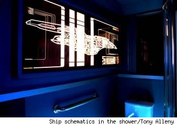 tony alleyne, trekkie shower, shower schematics, trekkie bathroom