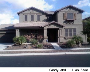 Owners Sandy and Julain Sado were forced to put their home up for shortsale