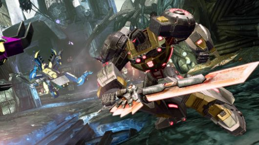 Autobots go, then stop, then go in Transformers Fall of Cybertron